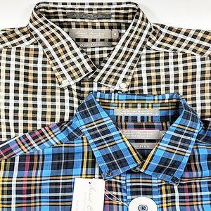 2 Daniel Cremieux Signature Plaid Shirts